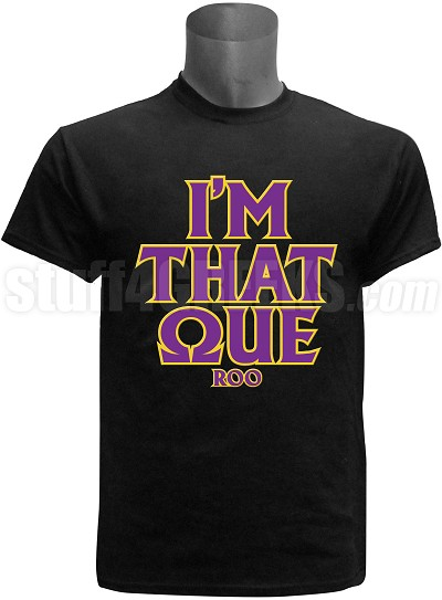 "Omega Psi Phi ""I'm That"" Screen Printed T-Shirt, Black"