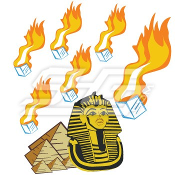 Pharaoh With Pyramids and Burning Ice Cubes Patch