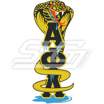 Alpha Phi Alpha Cobra Dripping Ice Over A Phi A Patch