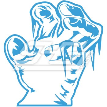 Alpha Phi Alpha Frozen Claw Hand Icon
