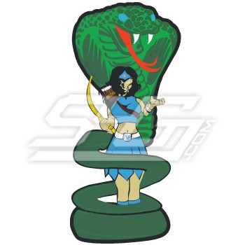 Amazon Woman With Cobra Patch