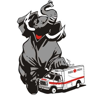 Elephant Stepping On Ambulance Patch