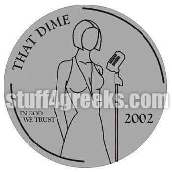 Dime Lady Singing Patch
