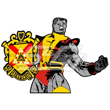 Angry Colossus with Phi Mu Alpha Shield Icon