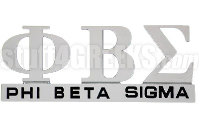 Phi Beta Sigma Chrome Greek Letters Car Decal (NS)