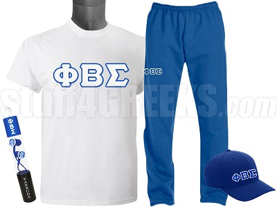 Phi Beta Sigma Sports Package - INCLUDES ATHLETIC PANTS, PERFORMANCE SHIRT, LIGHTWEIGHT HAT & WATER BOTTLE