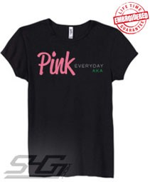 Pink Everyday (AKA), Black - EMBROIDERED with Lifetime Guarantee