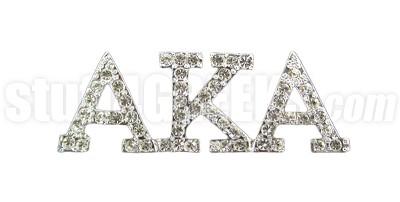 Alpha Kappa Alpha Greek Letter Lapel Pin with Swarovski