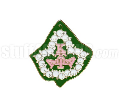 "Alpha Kappa Alpha 1"" Image/Mascot Lapel Pin with Pearl Ivy, Full Color"