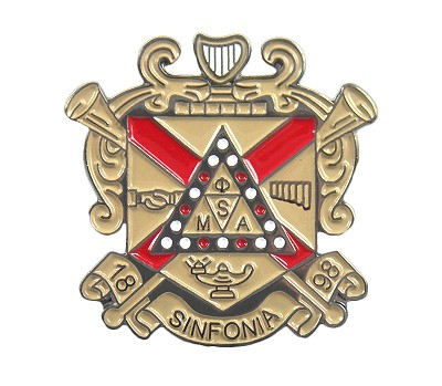 "Phi Mu Alpha 1.125"" Crest Pin, Full Color"