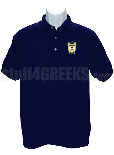 Alpha Psi Rho Polo Shirt with Crest, Navy Blue