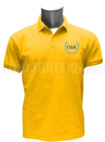 Omicron Delta Kappa Men's Polo Shirt with Crest, Gold