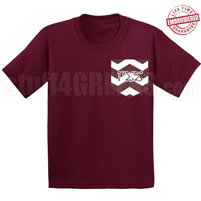 GSS Chevron Faux Pocket T-Shirt - EMBROIDERED with Lifetime Guarantee