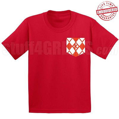 Argyle Diamond Faux Pocket T-shirt - EMBROIDERED with Lifetime Guarantee