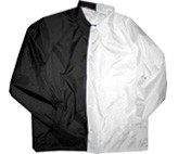 Clearance: Black/White Two-Tone Coaches Jacket, Size SMALL, Blank