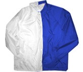 Clearance: White/Royal Blue Two-Tone Coaches Jacket, Size LARGE, Blank