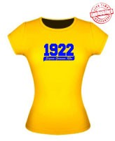 1922 Sigma Gamma Rho Ladies Fitted Tee, Gold - EMBROIDERED with Lifetime Guarantee