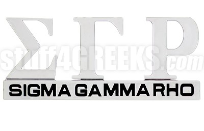 Sigma Gamma Rho Chrome Greek Letters Car Decal (NS)