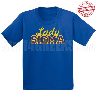 Lady Sigma Fitted T-Shirt, Royal - EMBROIDERED with Lifetime Guarantee