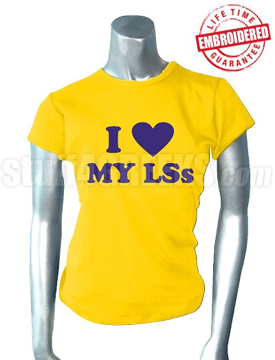 Sigma Gamma Rho I Heart My LS T-Shirt - EMBROIDERED with Lifetime Guarantee