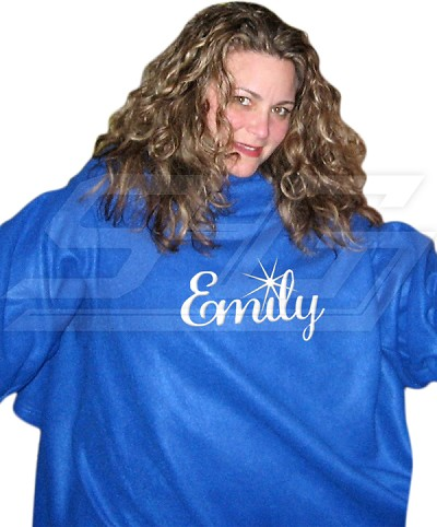 Personalized Embroidered Snuggie