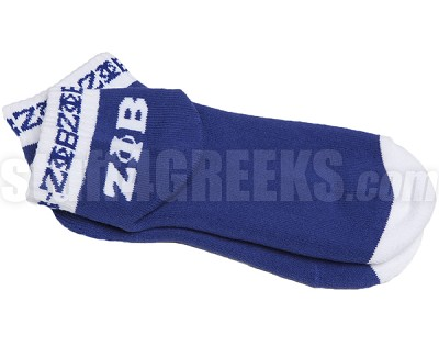 Zeta Phi Beta Colored Bootie Socks with Greek Letters and Organization Name