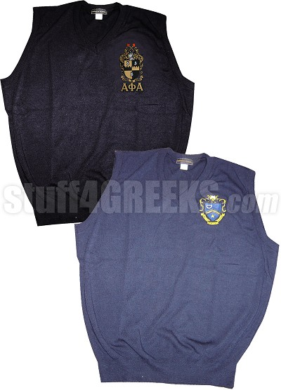 Custom Greek Sweater Vest - EMBROIDERED With Lifetime Guarantee