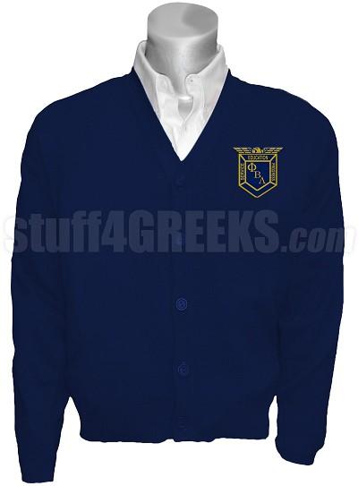 Phi Beta Lambda Crest Cardigan Navy Blue