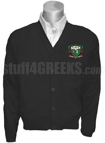 Psi Chi Omega Crest Cardigan, Black
