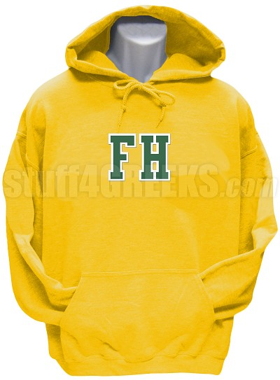 FarmHouse Varsity Letter Pullover Hoodie Sweatshirt, Gold