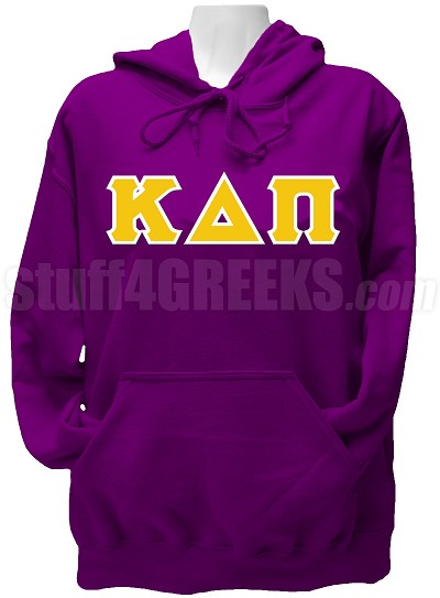 Kappa Delta Pi Ladies Greek Letter Pullover Hoodie Sweatshirt, Purple