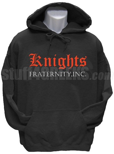Knights Fraternity, Inc. Pullover Hoodie Sweatshirt, Black