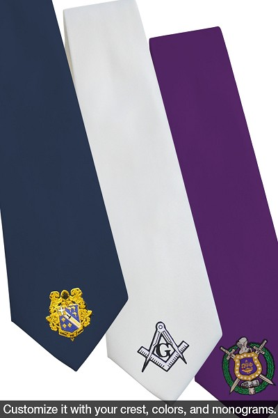 Custom Embroidered Greek Fraternity Neck Tie