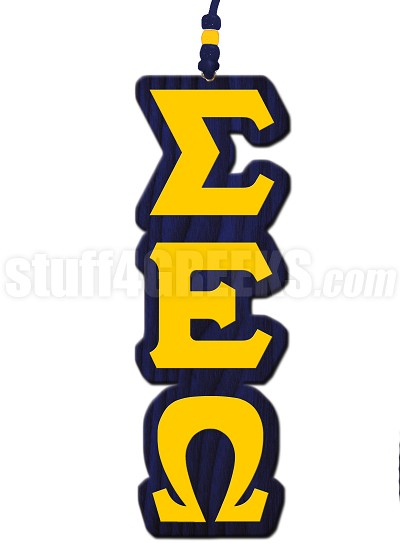 Sigma Epsilon Omega Greek Letter Tiki Necklace