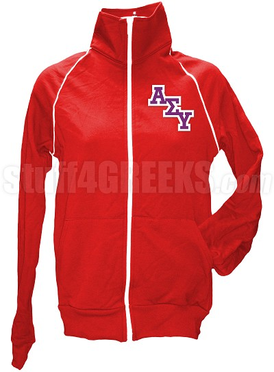 Alpha Sigma Upsilon Ladies' Logo Letter Track Jacket, Red