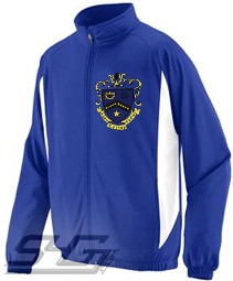 Kappa Kappa Psi Large Crest Track Jacket, Royal/White