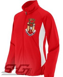 Sigma Alpha Iota Large Crest Track Jacket, Red/White