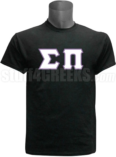 Sigma Pi Greek Letter T-Shirt, Black Screen Printed