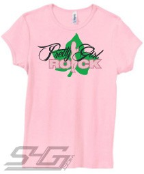 AKA Pretty Girl Rock, Pink Screen Printed T-Shirt
