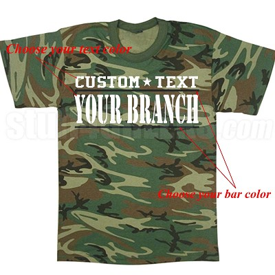 Custom Military Screen Printed T-Shirts