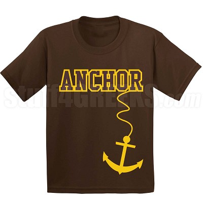 Anchor T-Shirt, Brown/Gold