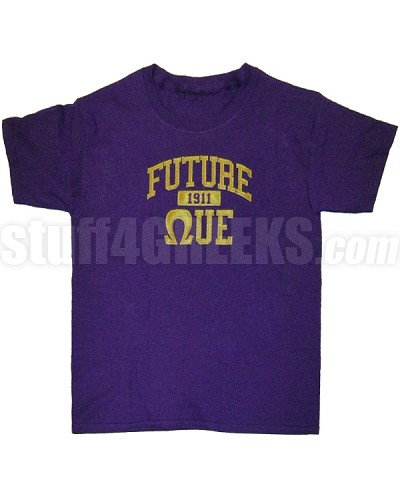 Future Omega Psi Phi Screen Printed T-shirt, Purple