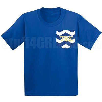 Tau Beta Sigma Chevron Faux Pocket Screen Printed T-shirt