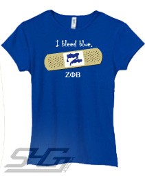 I Bleed Blue (Zeta Phi Beta) Screen Printed T-Shirt