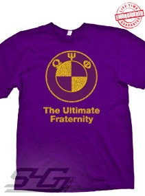 Omega Psi Phi - The Ultimate Fraternity, Purple T-Shirt - EMBROIDERED with Lifetime Guarantee