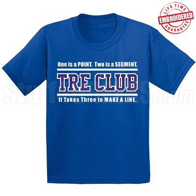 Zeta Phi Beta Tre Club (Gen1) T-Shirt, Royal - EMBROIDERED with Lifetime Guarantee